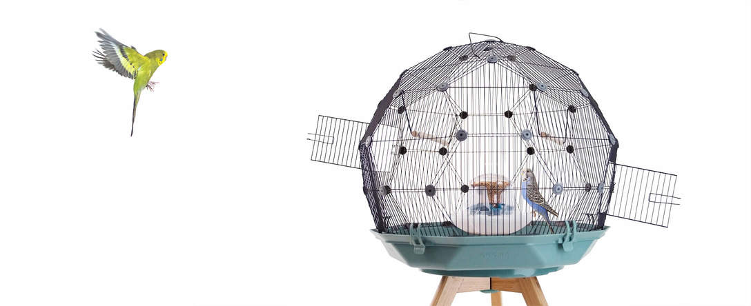 Geo Bird Cage for Budgies