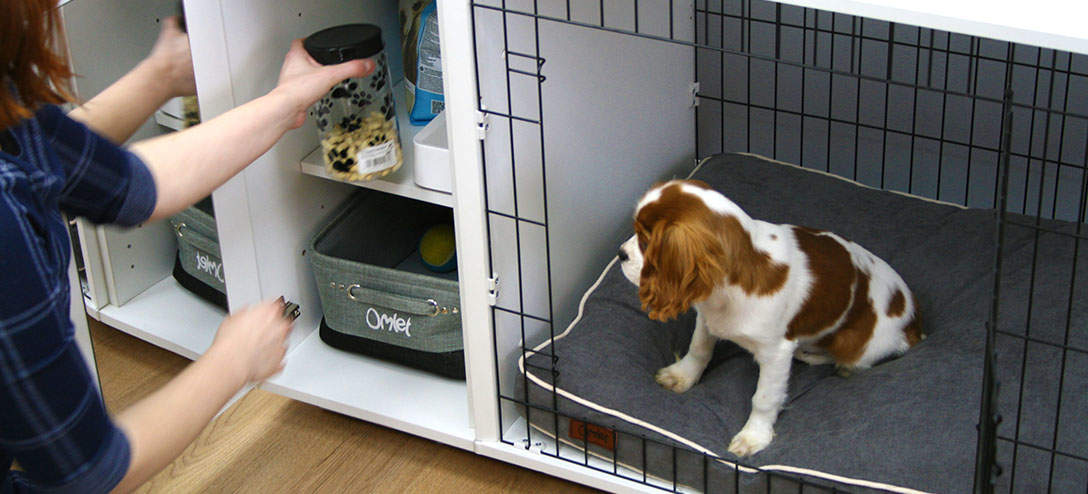 Keep your puppy training treats safe in the Omlet Fido Studio's wardrobe