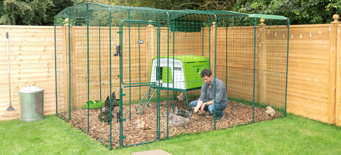 Create a large, secure, permanent enclosure quickly and easily with Omlet's Walk In Chicken Run.