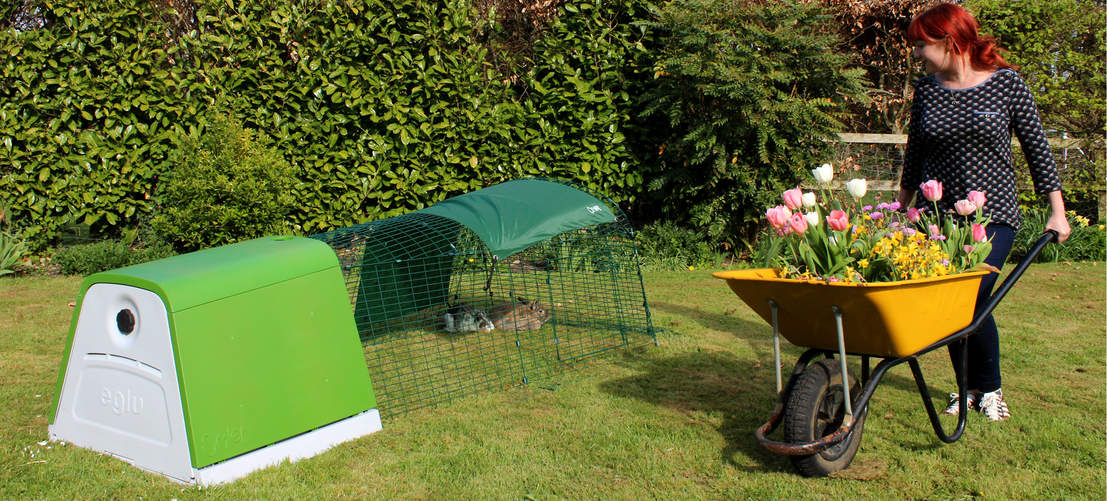 The Eglu Go Rabbit Hutch looks great in every garden