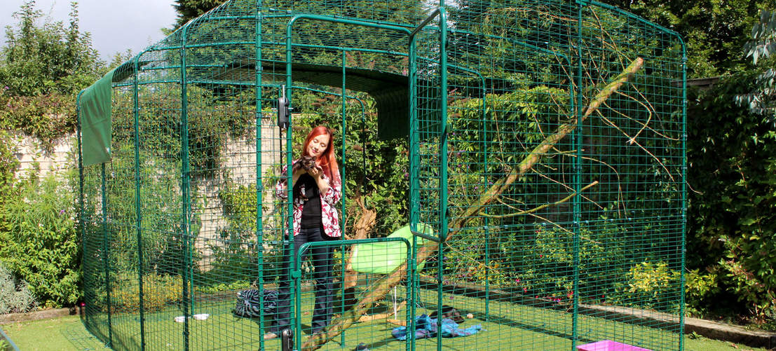 The Catio Outdoor Cat Enclosure is larger than most cat enclosures and can be extended to suit your requirements