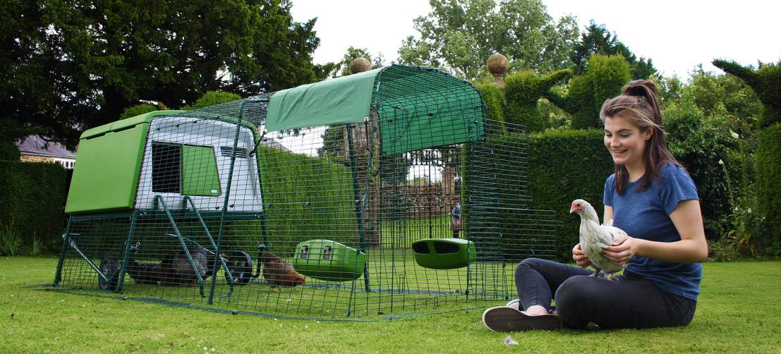 The Eglu Cube modern chicken coop looks fantastic in your yard