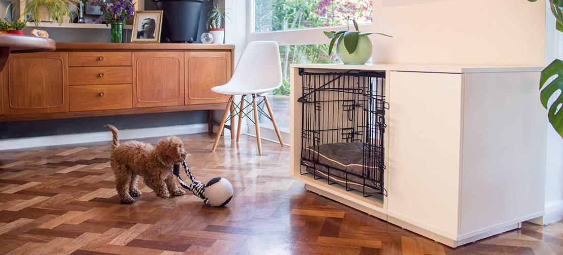 The Omlet Fido Nook is an elegantly designed piece of dog furniture and will look great in your home