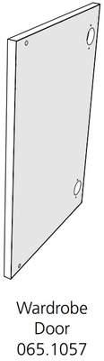 Fido Studio Wardrobe Timber Door 24 White (065.1057.0001)