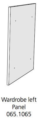 Fido Studio Wardrobe Timber Panel Left 36 White (065.1065.0001)