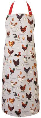Tablier Madeleine Floyd, imprimé poules et œufs