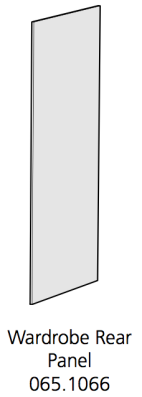Fido Studio Wardrobe Rear Panel 36 White (065.1066.0001)