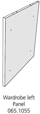 Fido Studio Wardrobe Timber Door 24 Walnut (065.1057.0002)
