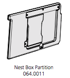 Cube Mk2 Partition Assembly (064.0011) - Green