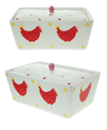 Butter Dish Hot Chick
