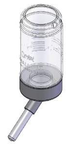 Qute - Biberon d'eau pour hamster et gerbilles - 80ml