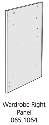 Fido Studio Wardrobe Timber Panel Right 36 White (065.1064.0001)