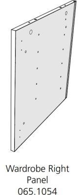 Fido Studio Wardrobe Timber Panel Right 24 White (065.1054.0001)