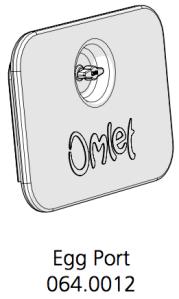 Cube Mk2 Eggport Assembly (064.0012) - Green