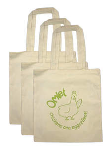 Omlet Cotton Shopping Bag - Pack of Three