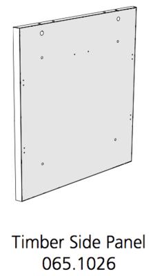 Fido Studio Timber Panel Side 36 White (065.1026.0001)