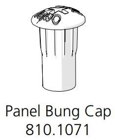 Panel Bung Cap Ø8 White (810.1071.0001)
