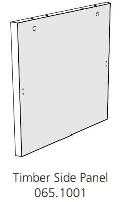 Fido Studio Timber Panel Side 24 White (065.1001.0001)
