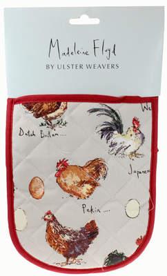 Double manique Madeleine Floyd, imprimé poules et œufs