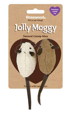 Jolly Moggy Natural Catnip Mice