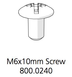 Cube Mk2 Machine Screw Combo Truss Head M6 X 10mm (800.0240)