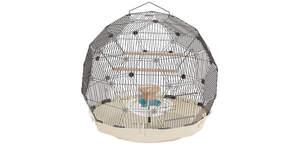 Geo Bird Cage - Cream and Black