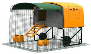 Eglu Cube Mk1 Hühnerstall mit 2m Auslauf - Orange