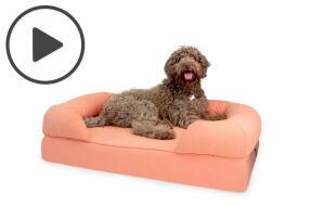 Bolster Dog Bed 42 - Pink