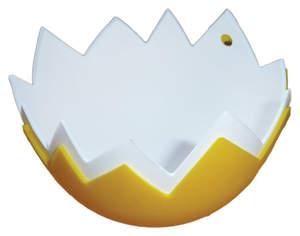 Egg Poachers Eggshell Set of 2