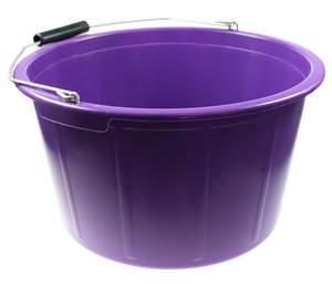 Seau à nourriture violet de 20 L