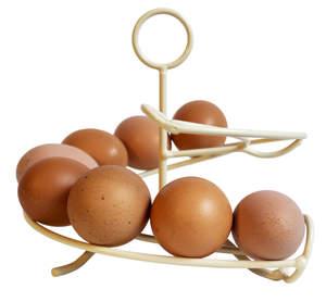 Cremefarvet æggekarrusel - 12 æg str. M-L