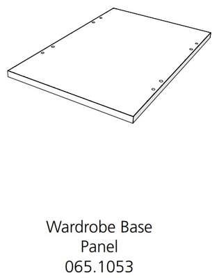 Fido Studio Wardrobe Timber Panel Base 24 White (065.1053.0001)