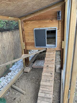 Hühnerstall Eingang