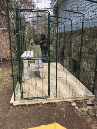 Finished cat pen