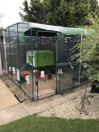 My Corner coop and run for my new hens