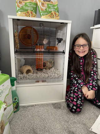 Very excited for her new hamster to arrive now!