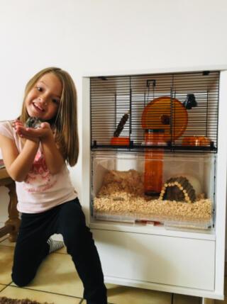 Cage Hamster Qute avec rangement ! Superbe pratique