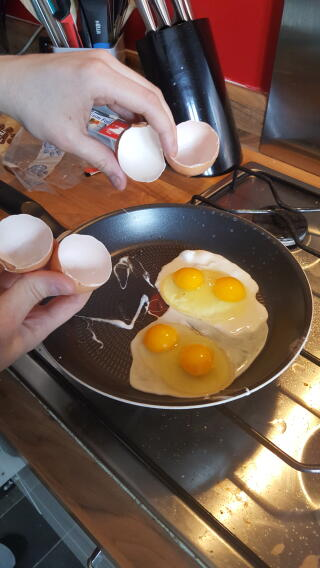 Double yolks from the chickens!