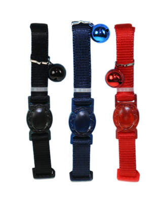 Assorted Plain Nylon Cat Collar