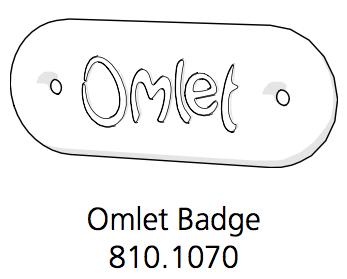 Indoor Omlet Badge Black (810.1070.0002)