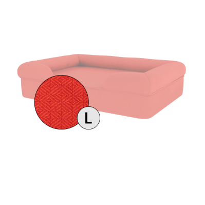 Bolster Dog Bed Cover Only - Large - Cherry Red