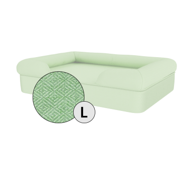 Bolster Dog Bed Cover Only - Large - Matcha Green