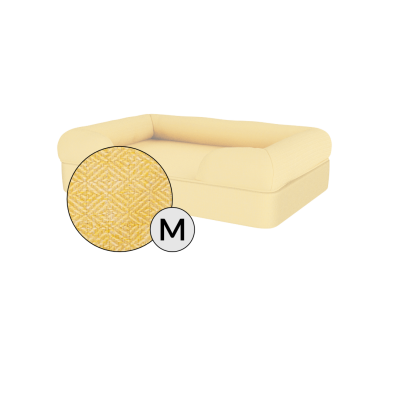 Bolster Dog Bed Cover Only - Medium - Mellow Yellow