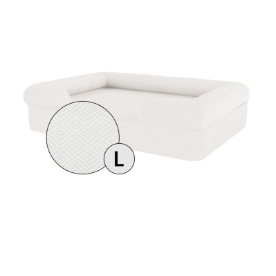 Bolster Dog Bed Cover Only - Large - Meringue White
