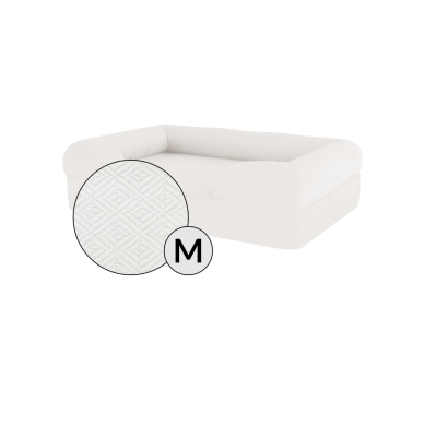 Bolster Dog Bed Cover Only - Medium - Meringue White