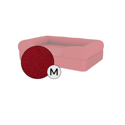Bolster Dog Bed Cover Only - Medium - Merlot Red
