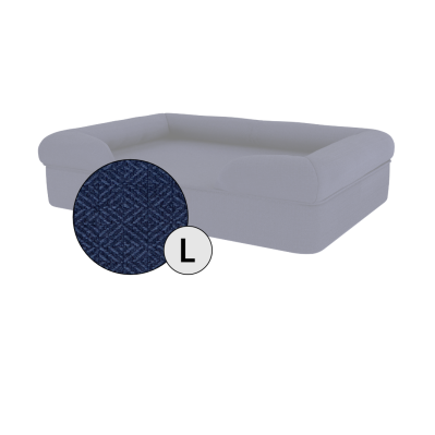 Bolster Dog Bed Cover Only - Large - Midnight Blue