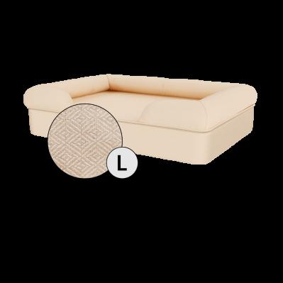 Bolster Dog Bed Cover Only - Large - Natural Beige