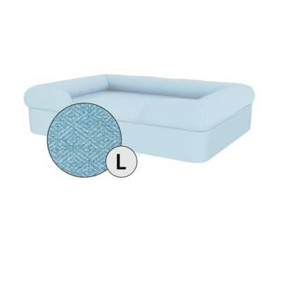Bolster Dog Bed Cover Only - Large - Sky Blue