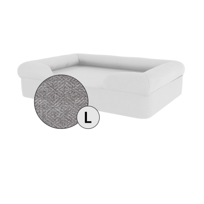 Bolster Dog Bed Cover Only - Large - Stone Grey